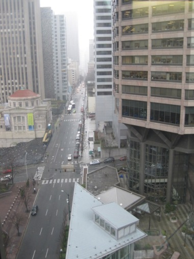 View from the Quiet Room looking North on 5th Ave