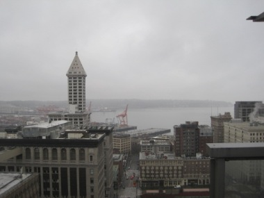 The Smith Tower & Elliott Bay. This was once the tallest buiding West of Chicago.