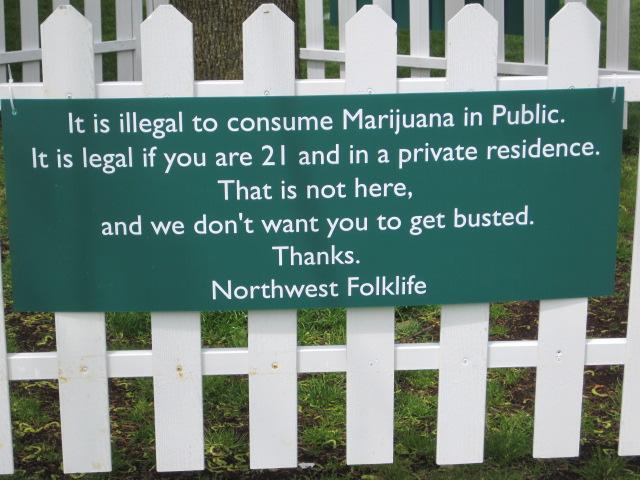 Folklife Festival Signage - Seattle 2013