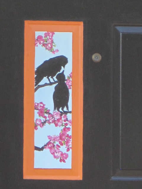 Crows on a Cherry Blossom Tree