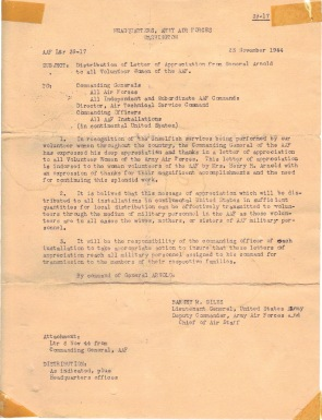 Letter of Apprc