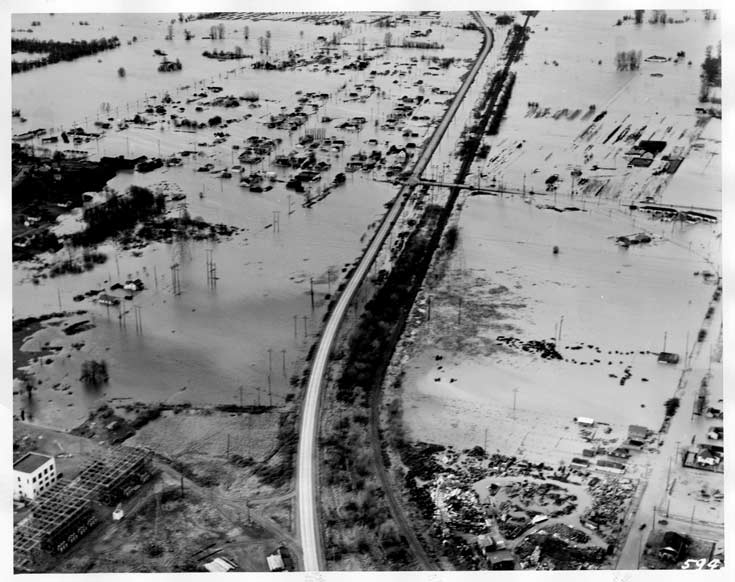 Dec 1946 Flood - Renton - Grady Eastward view