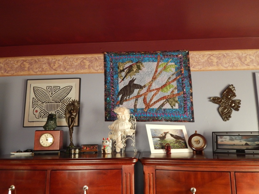 Quilt hung up in spot of honor