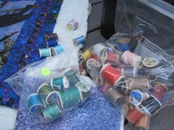 Piles of thread to pick from