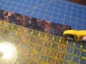 Cutting a two inch binding