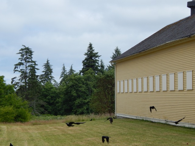 Crow Family of Fort Lawton between old Stables