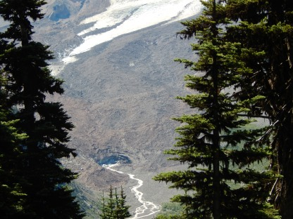 Snout of Emmons Glacier = White River Source