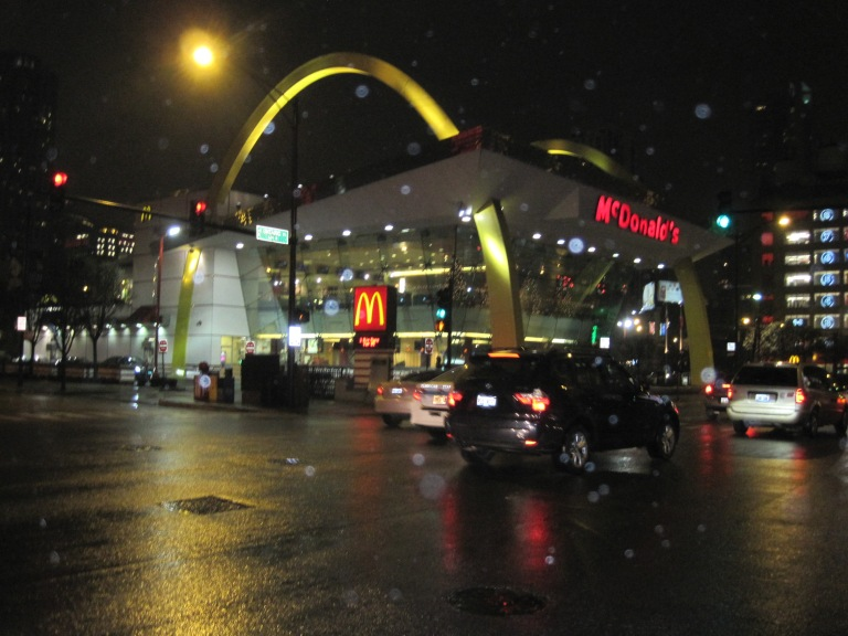 Rock N Roll McDonald's at night