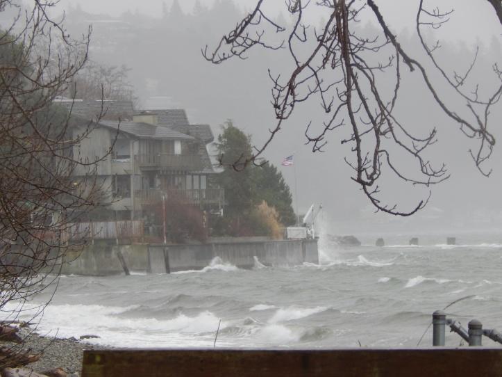 Storm blows into the Ocean View Beach