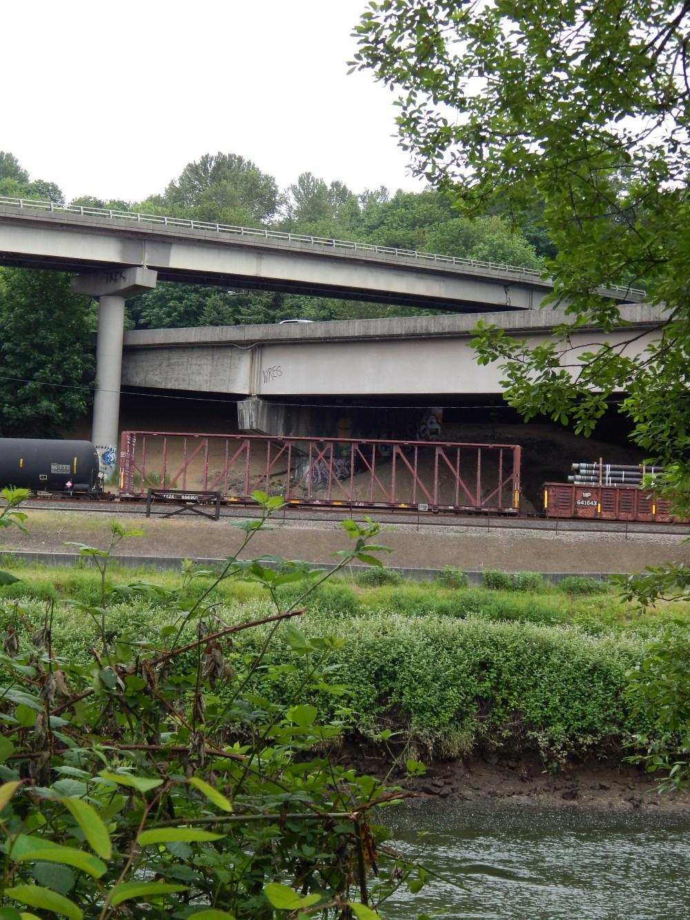 Codiga Bridge from Allentown over Rails and I-5