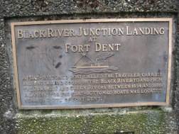 Close up of Fort Dent Landing Marker