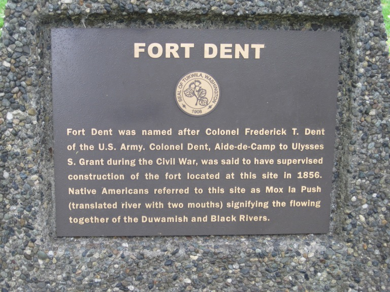 Marker documenting Fort Dent blockhouse long gone