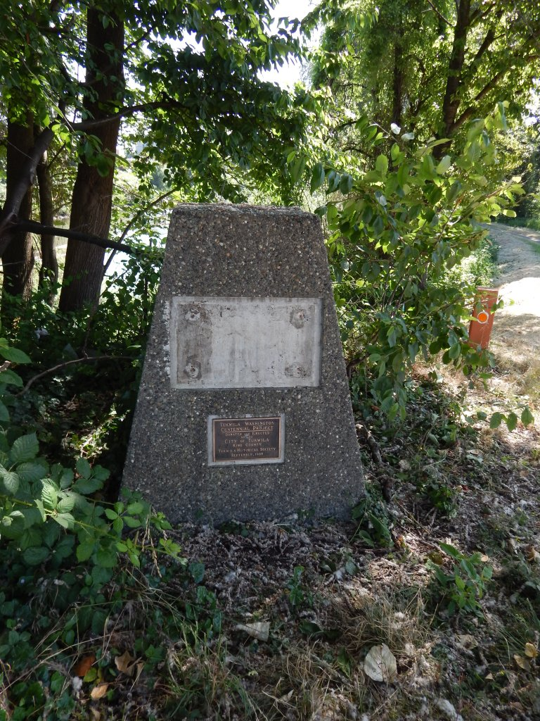 What did this historic marker say?