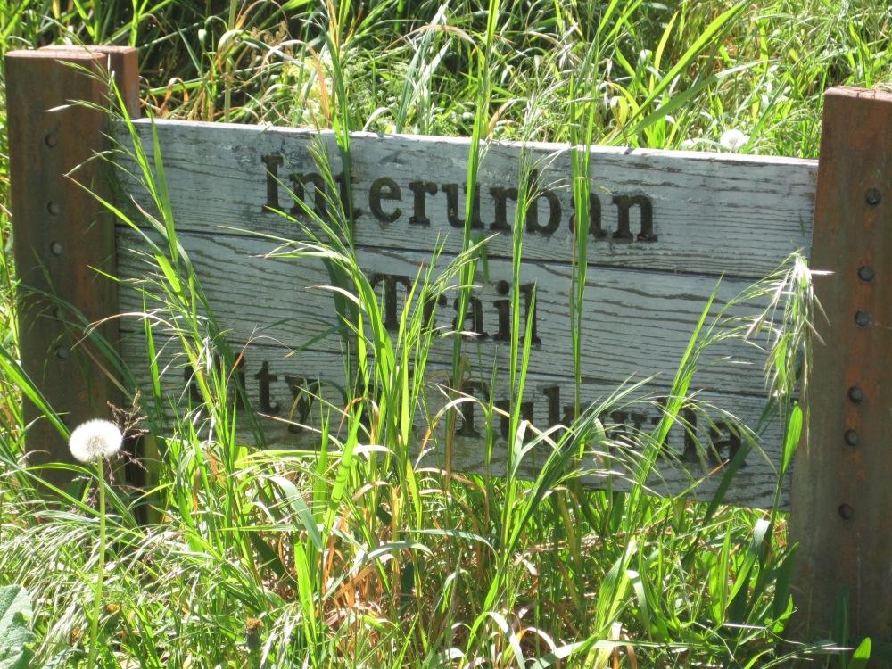 Interurban trail sign