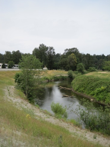 Green River with Briscoe Park at the right top