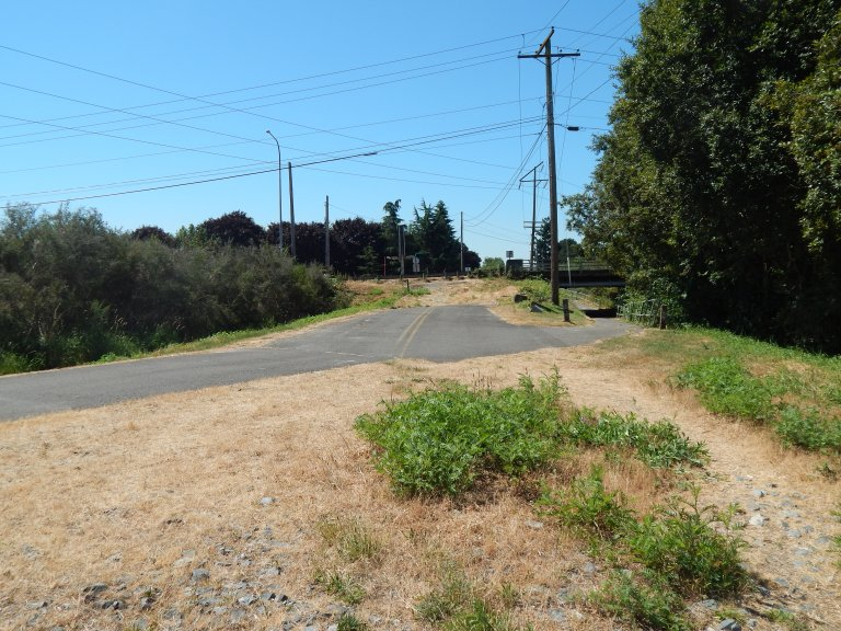 Russell Road used to be where Trail is now.