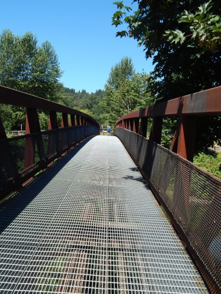 Metal bridge over Green River