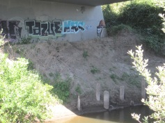 graffiti under the 200th St bridge