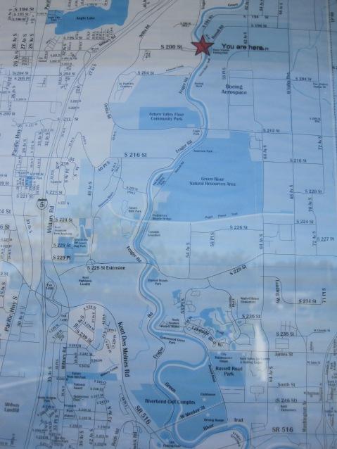 Map of Green River valley at Kent Park