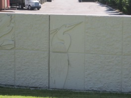 Flood control wall art