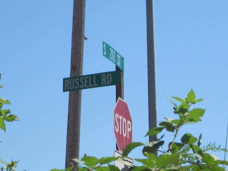 Russell Road is alive south of 212th.