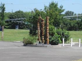 Totem art at Kent Park off 200th.