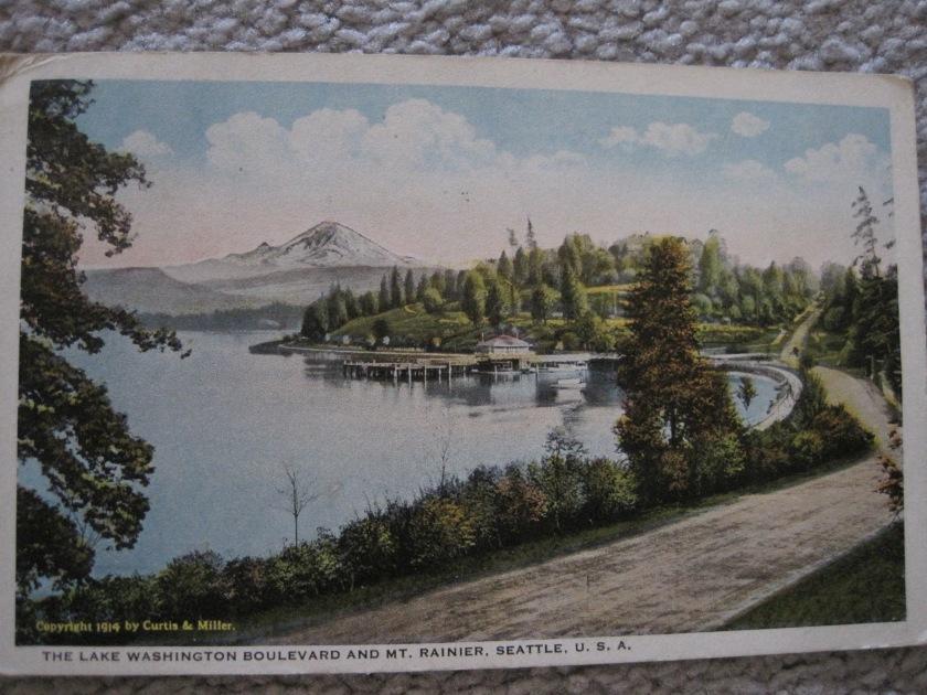 Lk Washington Blvd - Seattle -1914 Postcard
