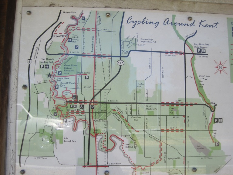 Kent Valley Trail system map
