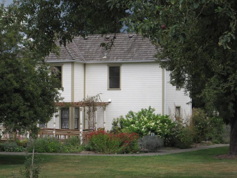 Neely House & garden at back