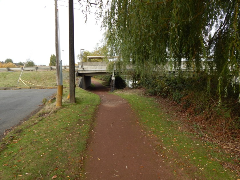trail goes under Oxbow bridge