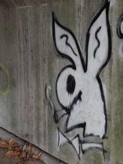 Smoking Bunny under Bridge