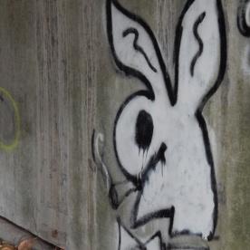 Smoking Bunny under Bridge