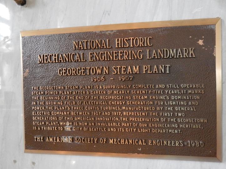 National Historic Mechnical Engeneering Landmark Placque