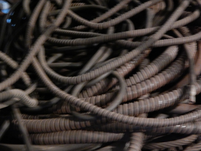 Electrical Cable - close up - 1st photo no flash