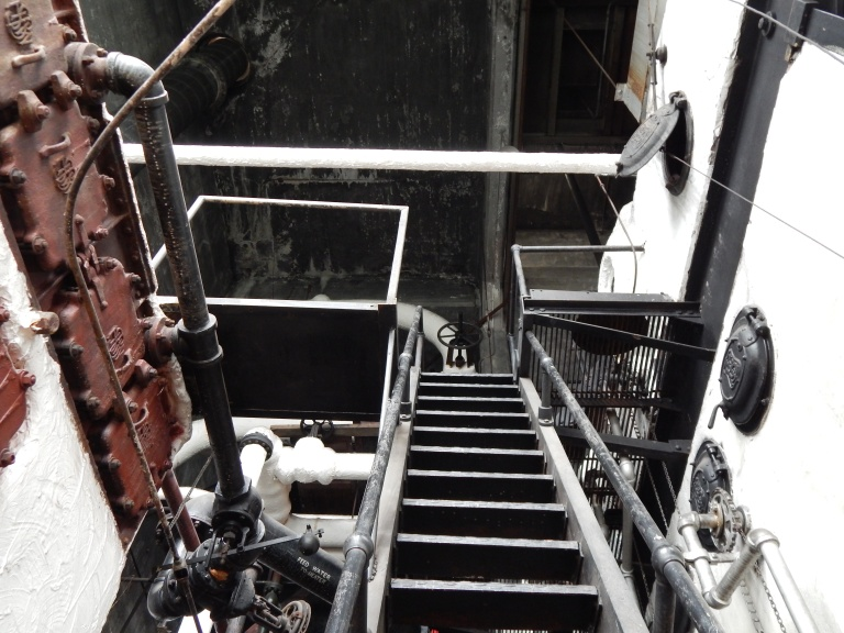 Stairs upward in boiler room