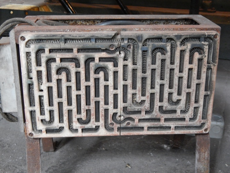 Old space heater a graphic treat