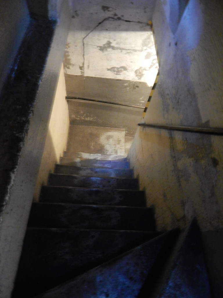 Staircase after the glowing photo with my feet.