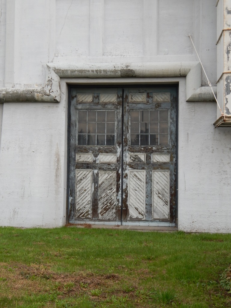 Old front doors of Steam Plant in Seattle