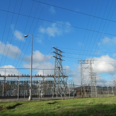 City Light Substation next to Duwamish River