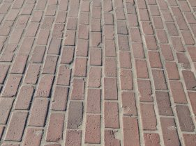 Original bricks of Des Moines Memorial Drive