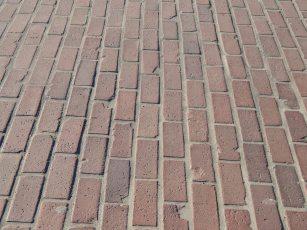 Original bricks of Des Moines Memorial Drive