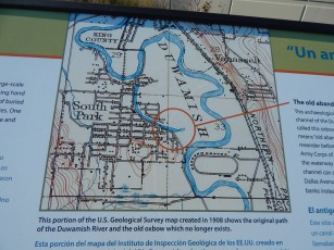 Map of South Park and Duwamish River at 14th Ave So bridge