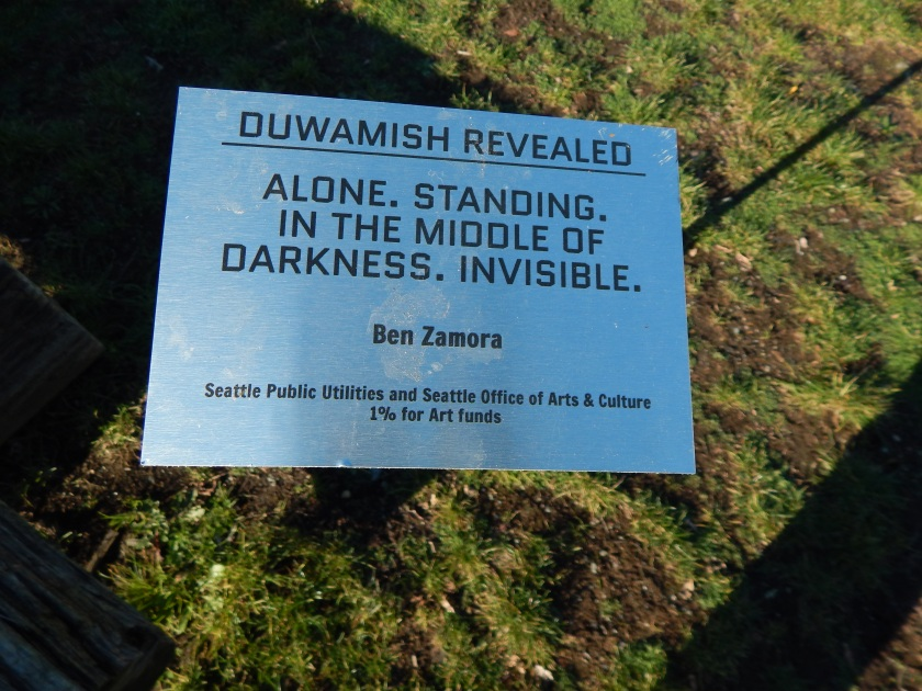 Duwamish Revealed Art - Alone. Standing, in the middle of Darkness. Invisible. - by Ben Zamora