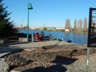 Duwamish River from site of old bridge in Southpark