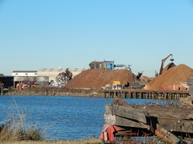 Recycling metal company across Duwamish