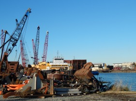 Cranes and big machinery parts
