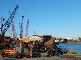 Cranes and big machinery parts
