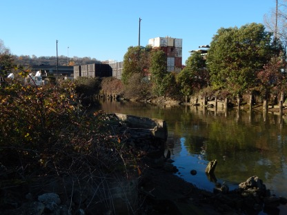 Small piece of old Duwamish before it was straightened - near 1st Ave So Bridge