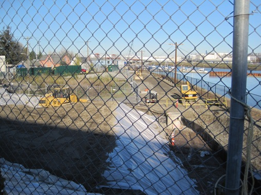 Construction of T-117 park in Southpark