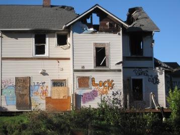 Burnt old mansion